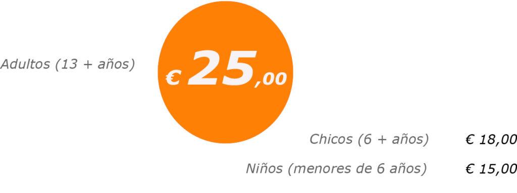 precios del tour