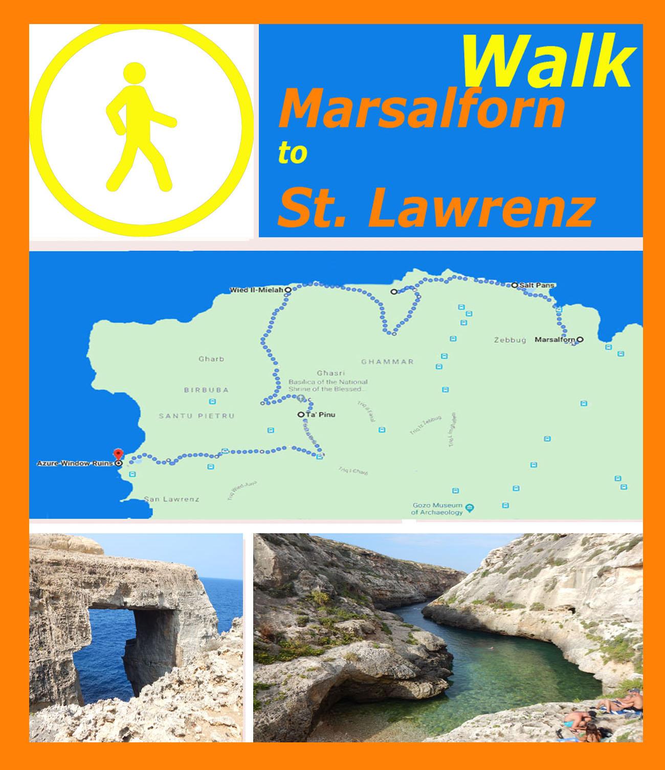Caminata a Gozo: de Marsalforn a San Lorenzo